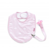 BIB WITH PACIFIER HOLDER